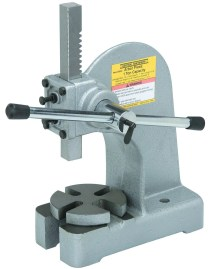 A Harbor Freight 1-ton arbor press