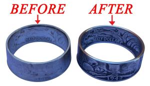 Before AND After COPY of finished coin rings